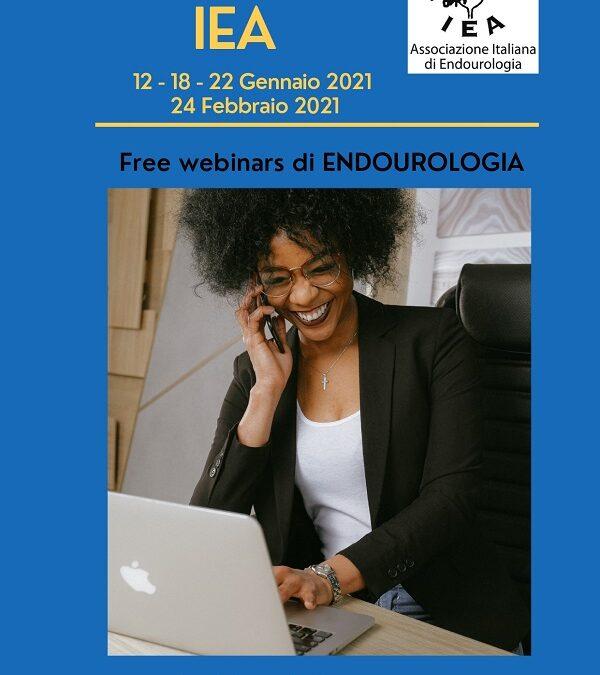 Webinars IEA di Endourologia